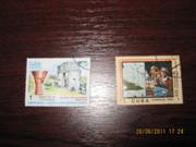 марки cuba correos 1982-84г Харьков и марка 40лет победы