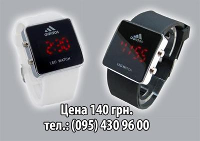 Светодиодные наручные часы Adidas LED watch - NTshop