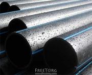 Трубы полиэтиленовые напорные для водоснабжения ПЕ80,  ПЕ100 от произв