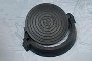Люк канализационный резиновый в комплекте корпус+крышка (нагрузка 12, 5