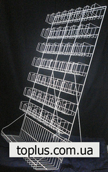 Металические настольные витрины из проволоки.