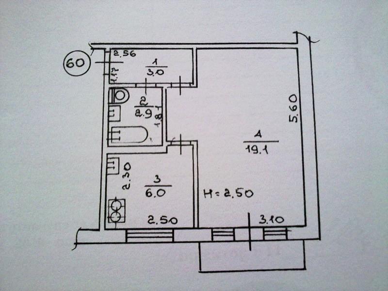 1-к квартира, 9 кв.м, 3/16 эт. festima.ru - мониторинг объяв.