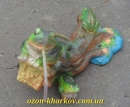 ландшафтная скульптура  Лягушки на бревне