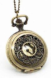 Бижутерия кулон стильная подвеска часы