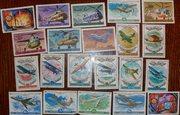 Коллекция почтовых марок СССР на тему авиации (21 шт)
