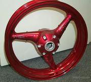 Порошковая покраска велосипедной рамы,  деталей мотоцикла,  дисков