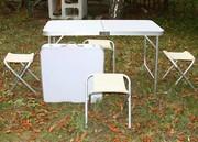 Столы для кемпинга. Набор складной мебели стол+4 стула