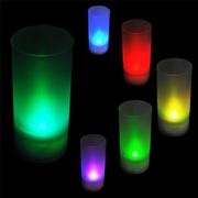 Свечи светодиодные,  меняющие цвет с датчиком задувания и хлопка