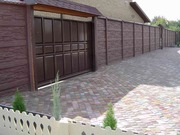 Продам врозаборы,  ворота,  садово-парковая мебель,  плитка тротуарная
