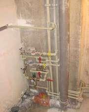 замена труб водопровод отопление канализация унитаз умывальник итд