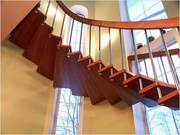 Комплектация и изготовление деревянных лестниц в Харькове