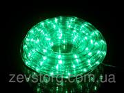Светодиодный дюралайт LED 10м с контроллером зеленый
