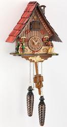 Немецкие деревянные резные часы с боем
