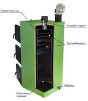 Твердотопливный котел Обрій 10 кВт
