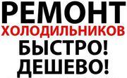 НЕ ДОРОГОЙ РЕМОНТ холодильников всех мировых марок.