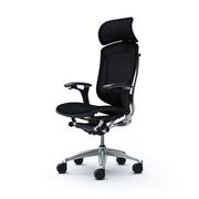 Эргономичные кресла  OKAMURA CONTESSA Silver Frame Спинка/сидение в черной сетке
