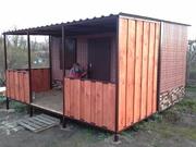 Бытовки,  дачные домики из профнастила декоративного 6, 0х3, 0х2, 3 м