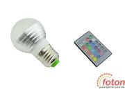 Светодиодная лампа RGB E27 Bulb (ПДУ)