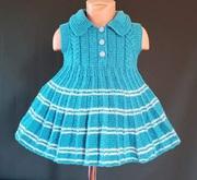 На подарок.Вязаное платье-туника