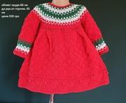 На подарок.Вязаное платье с орнаментом