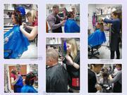 Курсы парикмахера - практика на моделях