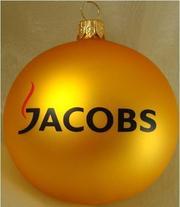 Елочные шарики с логотипом Вашей компании